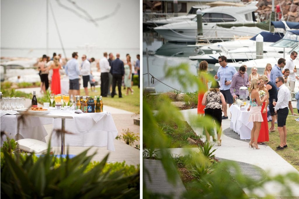 Stunning outdoor location on wedding day of Sonia and Todd at Anchorage Port Stephens