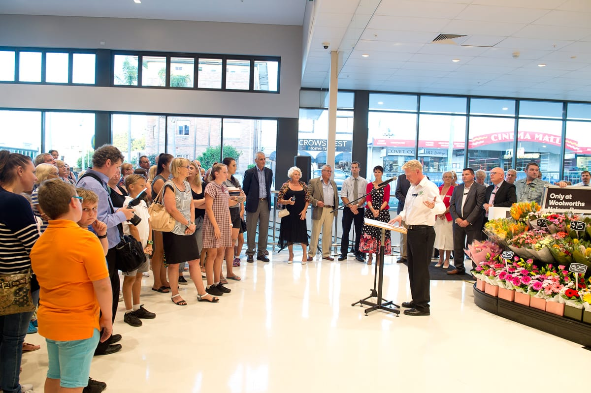 Event photography Presentations at opening new Woolworths shop in Nelson Bay Port Stephens