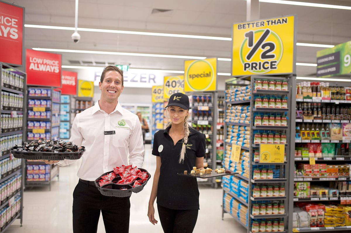 Event photography:New employees at opening new Woolworths shop in Nelson Bay Port Stephens