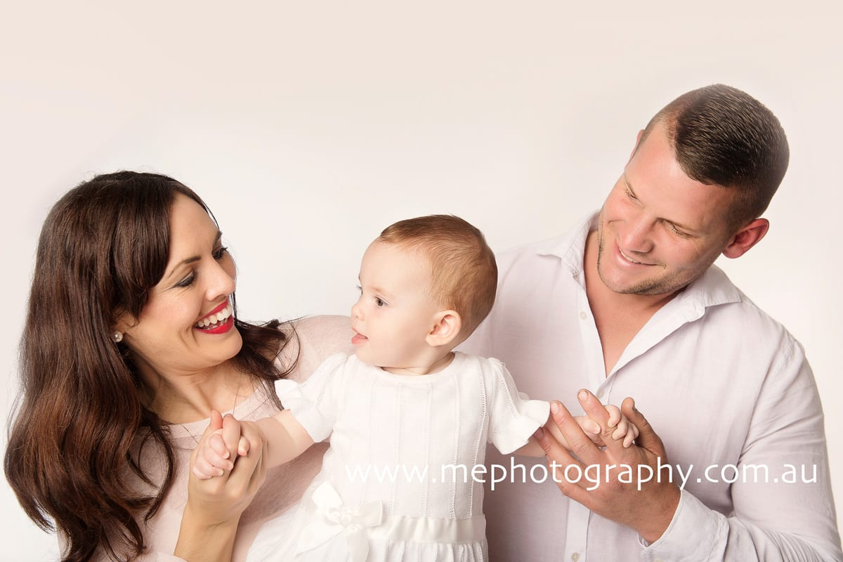 Family baby shoot with baby Rosie in studio ME Photography