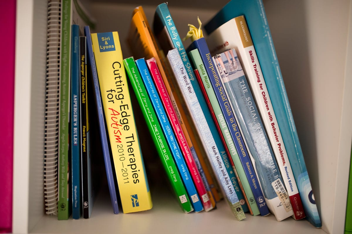 Books at commercial job Wavellengths detail image