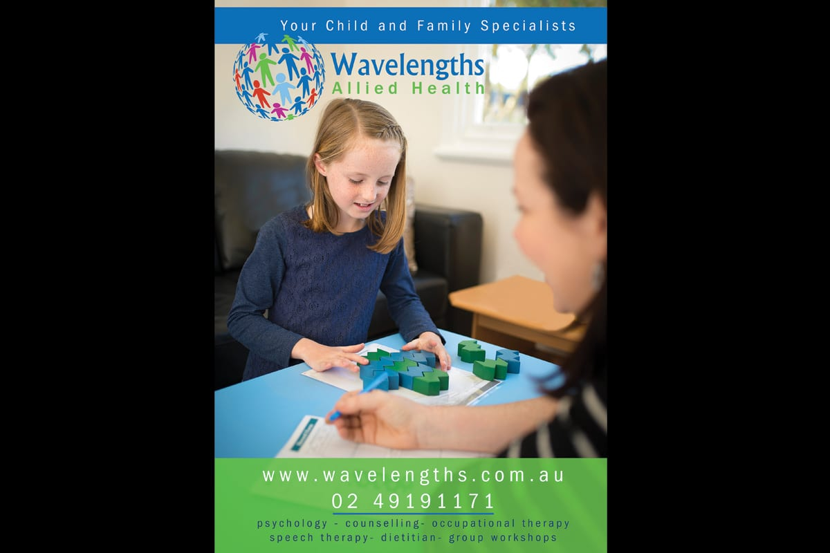 advertisement for Whats on in your backyard as part of commercial images for Wavelengths Allied Health