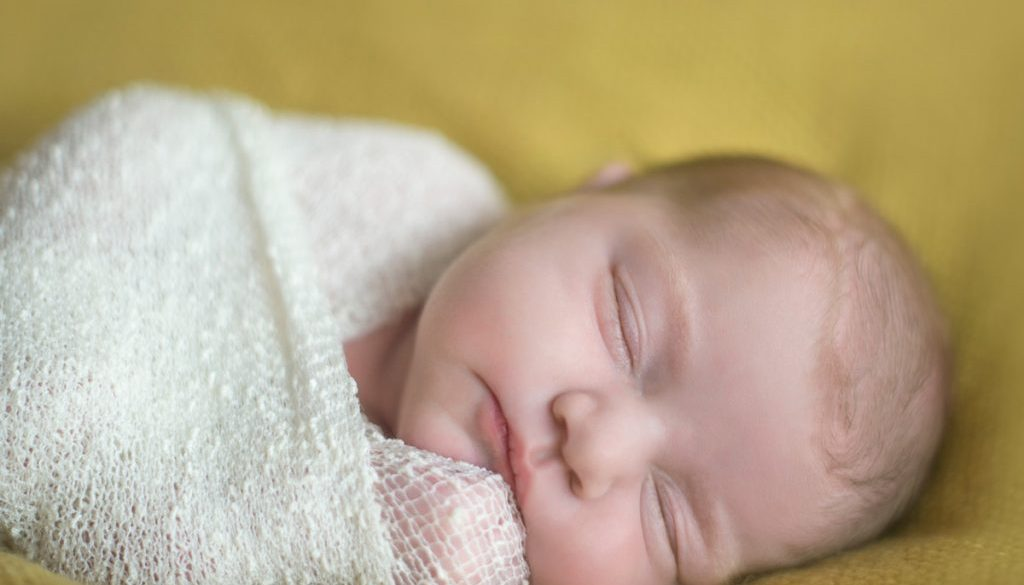 sleeping baby at newborn photography shoot
