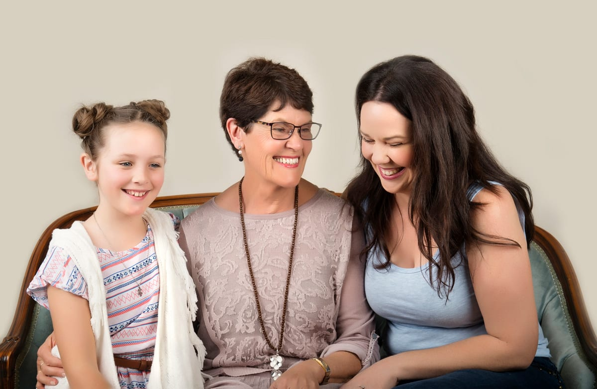 image of studio family shoot 3 generations