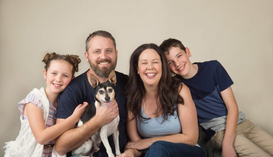 total family portrait session in studio me photography