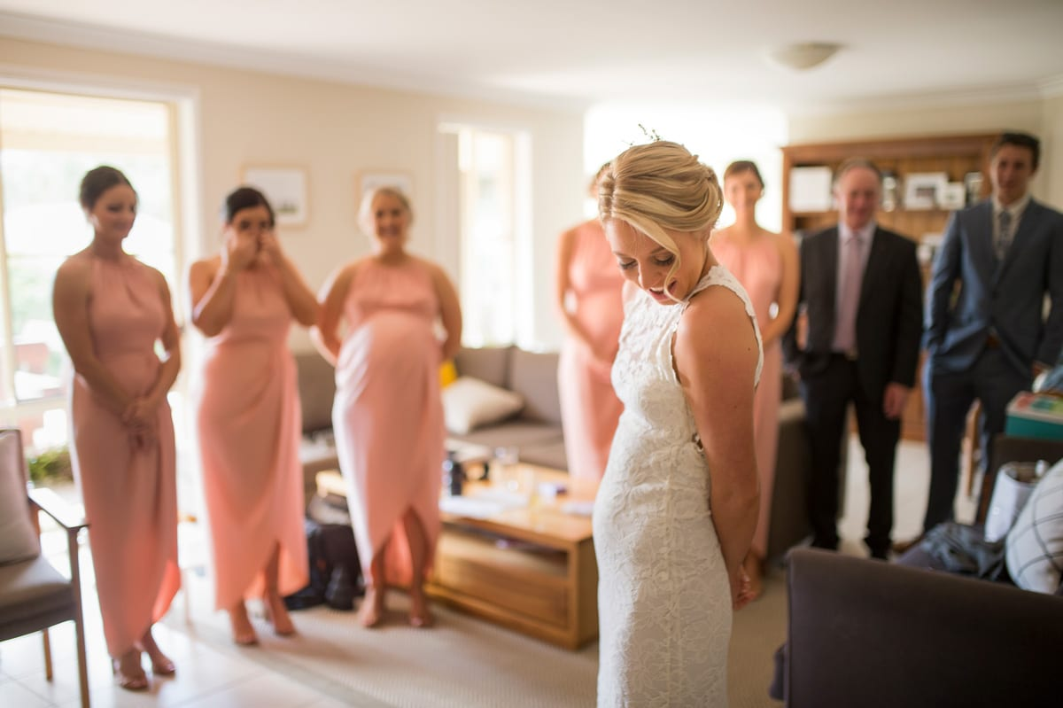 beautiful wedding dress getting ready images