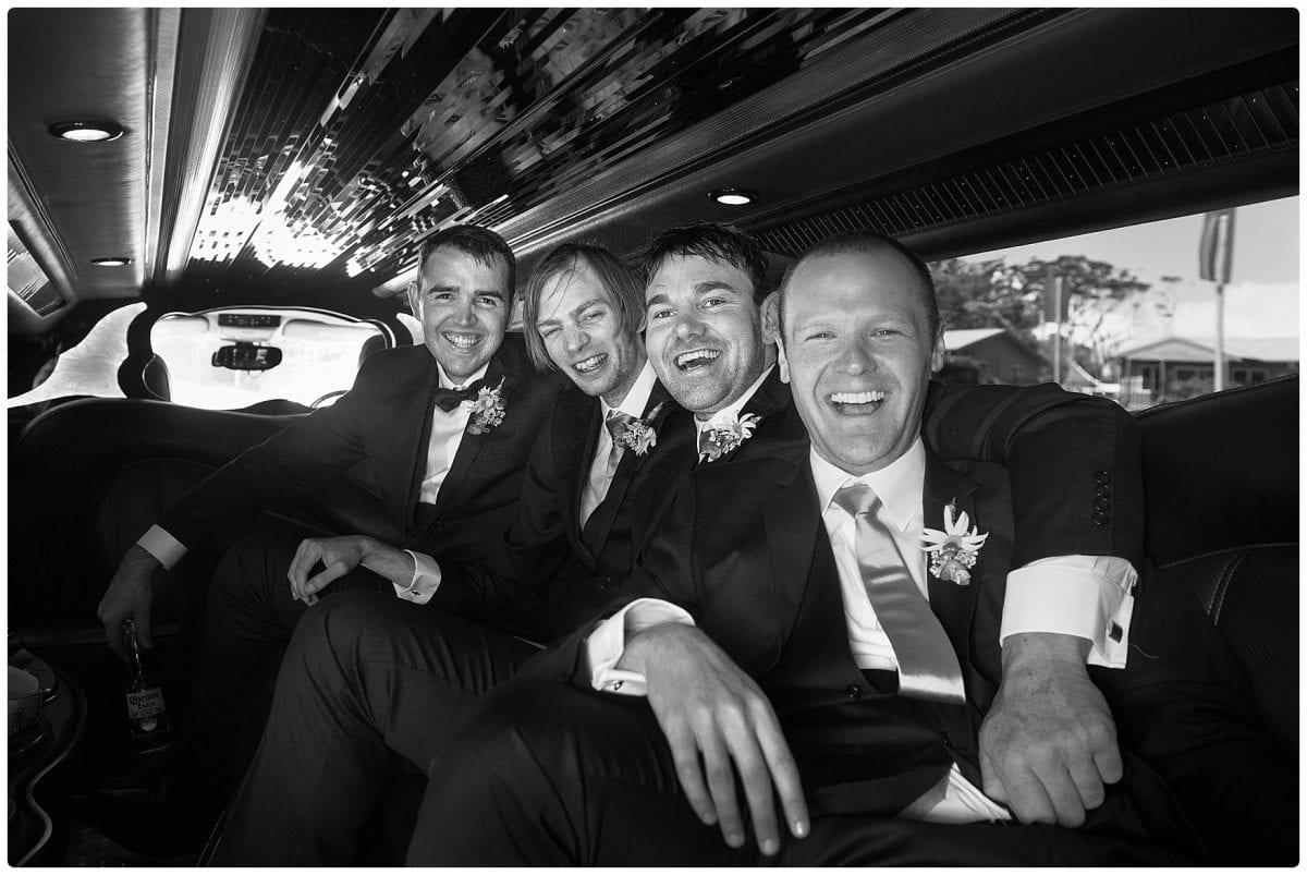 image of the limo on our way to the wedding Inner Lighthouse Nelson Bay