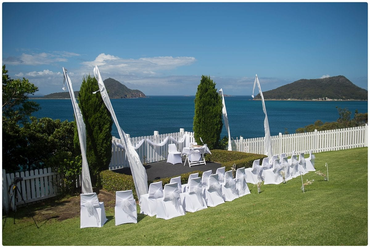 wedding inner Lighthouse Nelson Bay gorgeous view over port Stephens