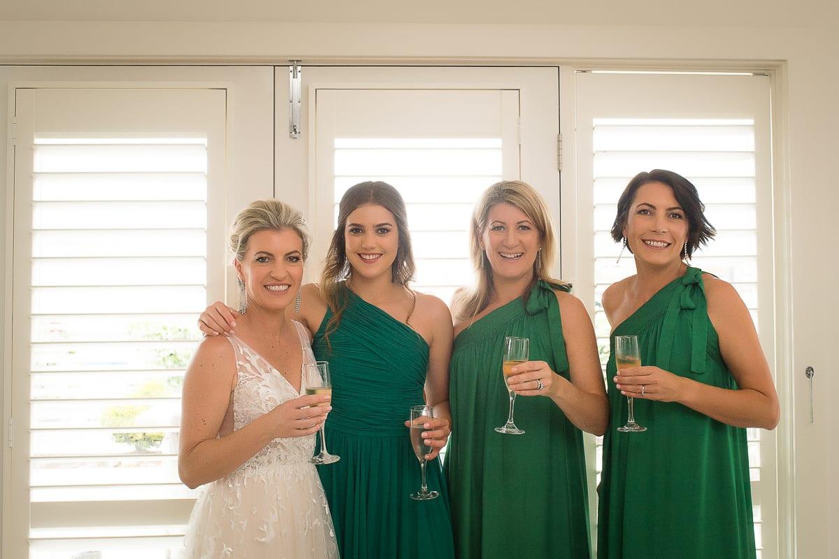 bridal party image at Anchorage Port Stephens wedding