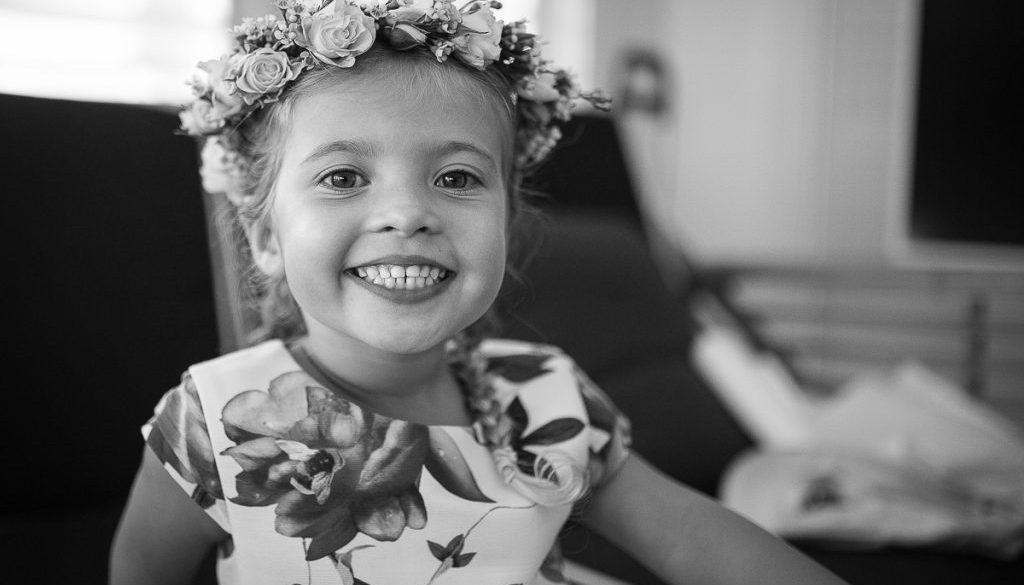 flower girl at Anchorage Port Stephens wedding