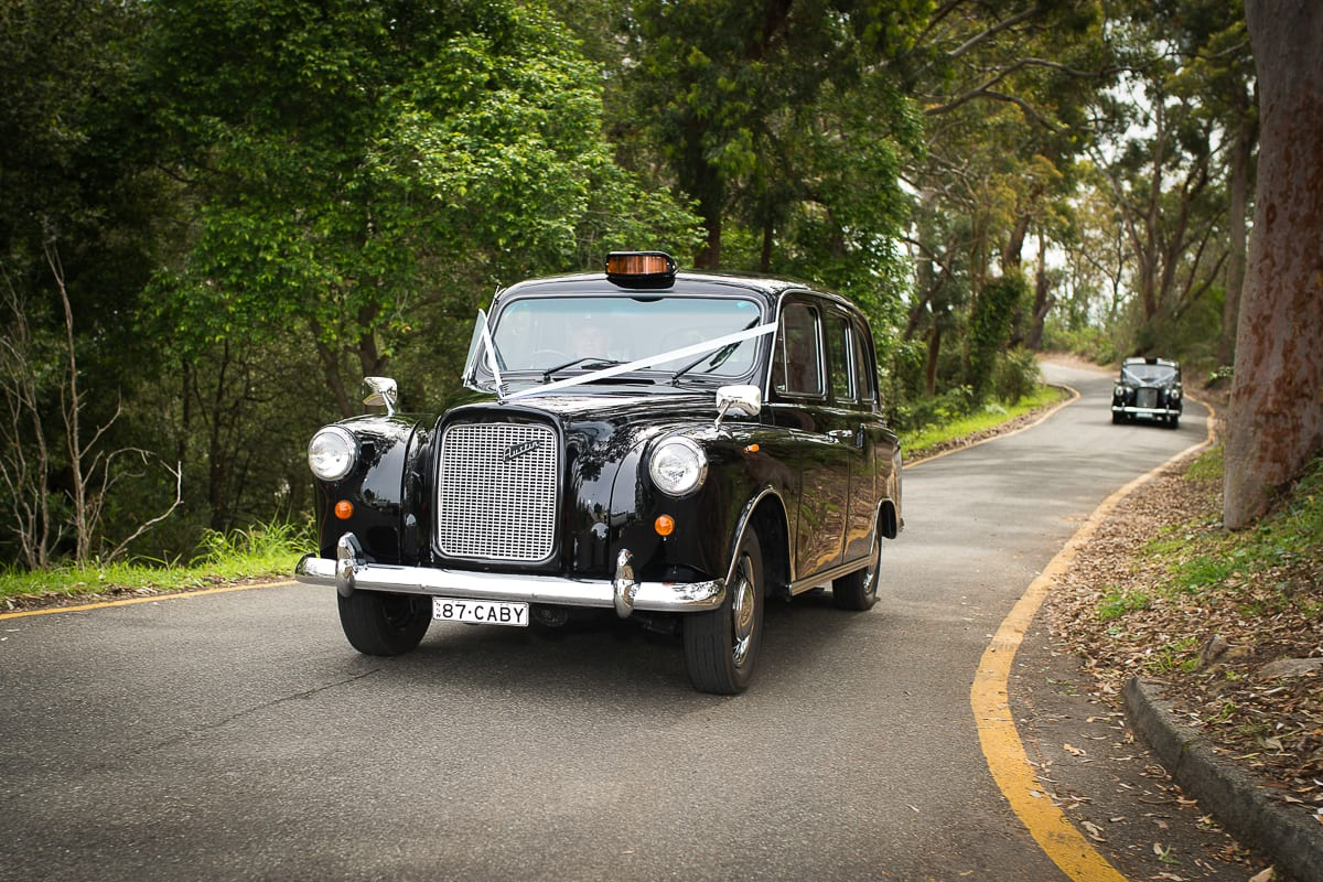 great English cars on the way to inner light house